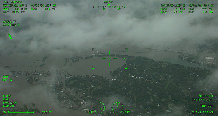 A view of flood damage over Houston as captured by the CGNR 2003