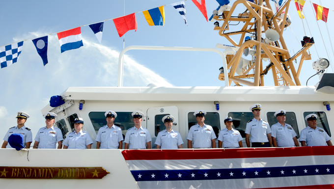 The crew of Coast Guard Cutter Benjamin Dailey