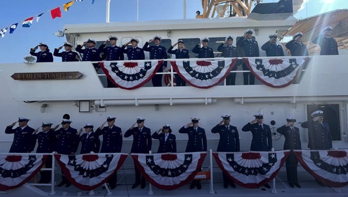Coast Guard commissions 45th fast response cutter in Pennsylvania