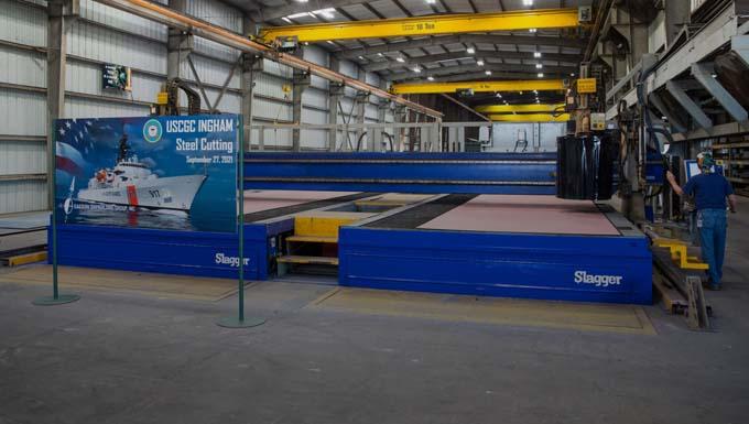 Steel cutting for third offshore patrol cutter begins