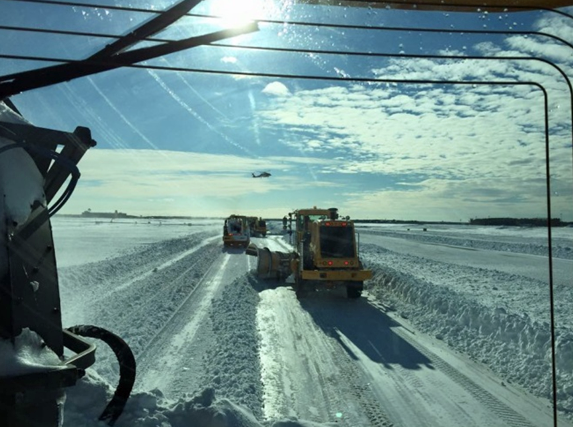 BCC FED personnel plowing during the Winter of 2014-2015