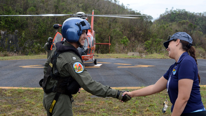 Coast Guard Delivers FEMA Food, Water To Arecibo Observatory