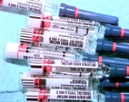 influenza injections ready to be used