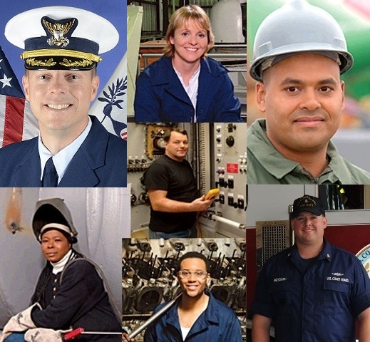 Montage of Yard employees