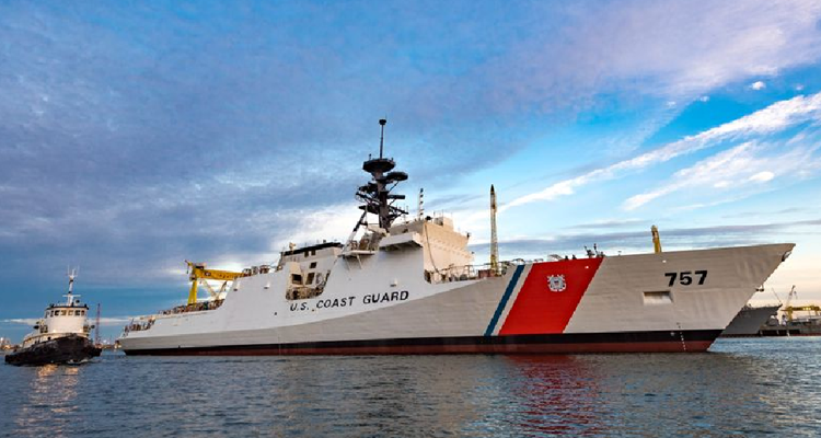 Eighth National Security Cutter Launched